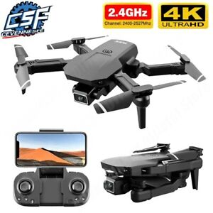 Mini Drone Selfie WIFI FPV Dual 4K HD Camera Foldable Arm RC Quadcopter Toy US