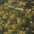 COWTAN & TOUT RUSTIC FOLIAGE FOREST TREES LINEN FABRIC 10 YARDS OLIVE GREEN BARK