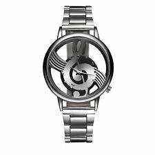 Smart Music Watch Silver Note Clef Present Gift Birthday Top Quality UK Warranty