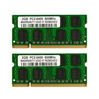 New Kit 4GB 2X2GB PC2-6400 DDR2-800 800Mhz DDR2 200pin Sodimm Laptop Memory
