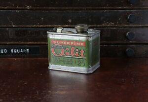 Early Wakefield Castrol Oil Tin Can Oilit Advertising Gun Car Motor Handy Oiler