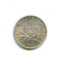 1 franc argent Semeuse 1920 de qualité n°E919