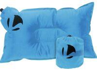 Lightweight Packable Self Inflating Camping Sports Pillow Travel Pillow - Blue