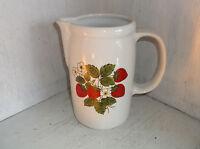 McCoy Lancaster Colony Strawberry Water Milk Jug Pitcher 1429