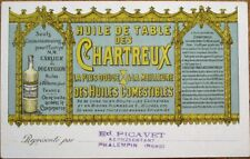 Chartreux Table Oil 1905 Color Litho Advertising Postcard