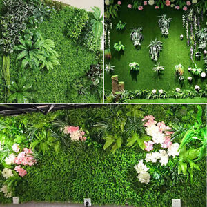 Garden Artificial Plant Fake Wall Panel Grass Hedge Vertical Foliage Mat Decor