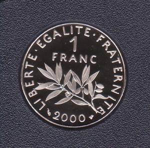 1 FRANC 2000 SEMEUSE FDC SORTIE DU COFFRET BE
