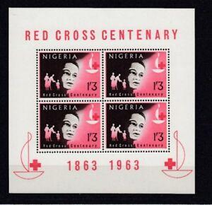 D.Nigeria Block 2 Red Cross (MNH)