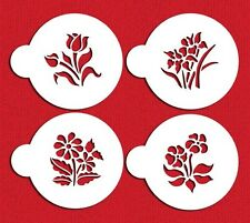 Botanical Flowers Cookie Stencils by Designer Stencils #C352