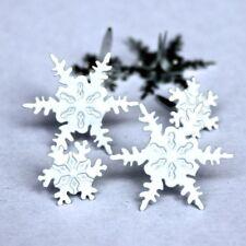 Brads - Bulk - Snowflake snow winter cold ice christmas - pk 15 - scrapbooking