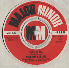 """Malcolm Roberts - Love Is All 7"""" Single 1969"""