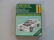 HAYNES #2117 Automotive Repair Manual Book For LINCOLN RWD 1970-1995