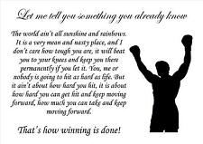 Rocky Boxant Source D'inspiration Citation De Motivation Affiche Imprimé Image