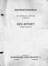 SAI KZ II 1930's Historic Aircraft Manual Period Archive Danish RARE Monoplane