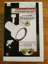 Hampton Bay Dimensions R30 or Par30 Step Cylinder Track Light F12 Nib 555119