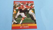 1990 PRO SET FOOTBALL BILL MAAS CARD #145***KANSAS CITY CHIEFS***