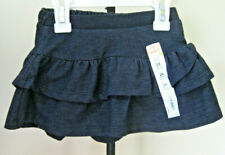 NWT Girls' JUMPING BEANS Tiered Tulip Scooter Skirt Size 24M Dark Denim Color