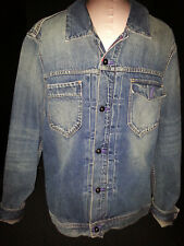 SCOTCH & SODA Faded Denim Jean Jacket Blue Mens Size XL