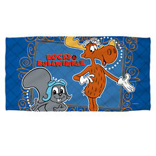 "Rocky & Bullwinkle Framed Friends Licensed Beach Towel 30"" x 60"""