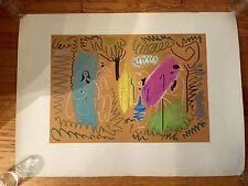"""Rare Vintage Picasso Pour Margaret Litho Lithograph Print 22""""X29"""" Johannot Paper"""