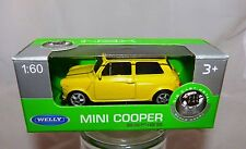 Welly Mini Cooper gelb in 1:60  Neu & OVP