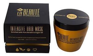 LA BEAUTE Intensif Cheveux Masque - Pure Kératine & Argan Huile 16.9 Fl.oz / 500