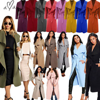JUSTYOUROUTFIT Womens Long Waterfall Draped Belt Long Sleeve Jacket Cape Cardiga