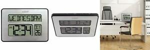 La Crosse Technology 513-1419-INT Atomic Full Calendar Clock with Extra...