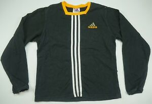 Rare Vintage ADIDAS Spell Out Trefoil Three Stripe LS T Shirt Jersey 90s YTH XL
