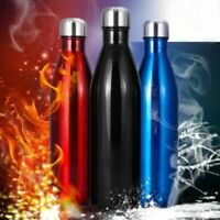 Stainless Steel Vacuum Insulated Water Bottle Thermos Hot/Cold For Kids Adult US
