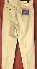 NWT NEW St John's Bay 32 x 32 Worry Free Classic Pleated Khaki Chino Pants