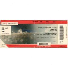 COLDPLAY & PETE YORN Concert Ticket Stub BURGETTSTOWN PA 5/30/09 VIVA LA VIDA