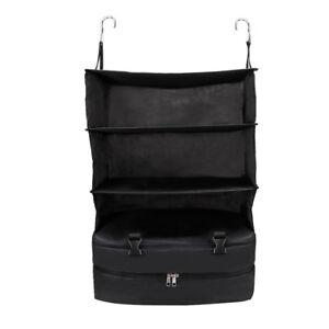 New Portable Luggage System Hanging Travel Shelves 3 Layer Storage Bag Organizer