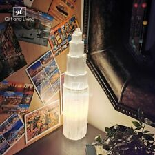 More details for selenite lamp crystal - 40cm snow mountain healing crystal natural moroccan