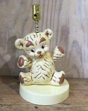 New listing Vtg Musical Teddy Bear Ceramic Table Lamp Nursery Room Decor Go To Sleep Tune
