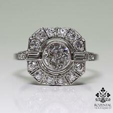 Antique Art Deco Platinum 0.83ctw Diamond Ring