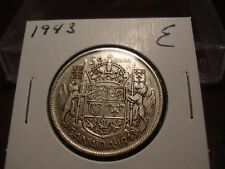 1943 Canada Silver 50 cent - circulated Canadian half dollar