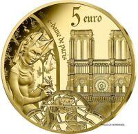 FRANCE 5 EURO BELLE EPREUVE OR GOLD 2020 EUROPA STAR NOTRE DAME PARIS 2000 RARE