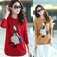 Womens Autumn Winter Korean Fashion Classic Round Collar Knitting Sweater Coat