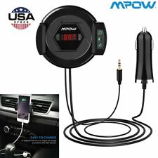 3-in-1 Car Bluetooth FM Transmitter Air Vent Mount Cell Phone Holder USB Charger