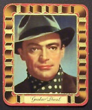 Gustav Diessl 1937 Garbaty Passion Film Favorites Embossed Cigarette Card #68