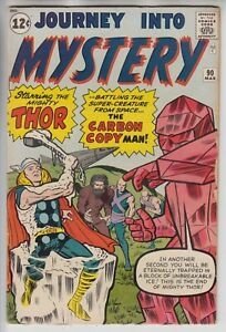 JOURNEY INTO MYSTERY THOR # 90 -FN STAN LEE & KIRBY COVER ART CENTS COPY 1963