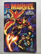 Marvel 1993 Annual Report, packed with info, art, and trading cards, NM copy