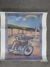 "Domi Racer Vintage 1949 Vincent Series B Rapide Garage Man Cave Poster 22"" x 17"""