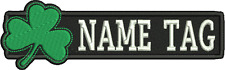 "Custom IRISH Name Tag Embroidery Sew on Patch 5"" x 1"""