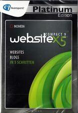 Website X5 - Compact 9 Avanquest Platinum Edition NEU OVP PC Websites erstellen