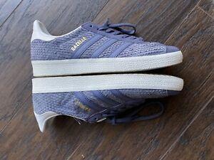 Adidas Women's Size 7 Gazelle Scale Suede Sneakers Lavender Blue