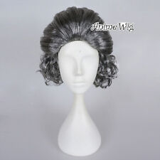 Short Curly Hair Grandma Silver Gray Old Lady Women Fancy Cosplay Party Wig