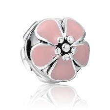 Silver Clip Clasp Flower Serie Fit European 925 Sterling Charm Bracelets