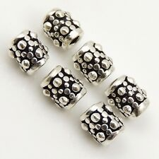 12 Pcs 925 Sterling Silver Barrel Bead Vintage DIY Jewelry Making WSP008X12